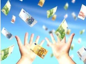 Dinheiro a cair do céu