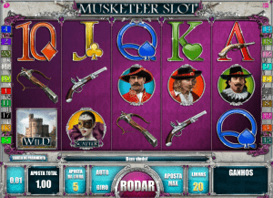 Screenshot da slot machine Musketeer
