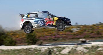 Carro WRC salto Portugal